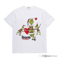 2018 COM all'ingrosso Nuovo Best Quality CDG Nuovo TARO OKAMOTO JAPAN Limited Gioca Heart Tee Holiday HOMME PLUS Vest Docking T Shirt