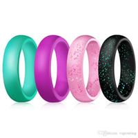 Bonito bonito belleza dedo colorido aro de silicona anillo de goma de silicona anillo protección Mech Vape Mod vaporizador vaporizador tanques RDA pastel caliente