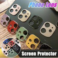 2021 Mais novo Protetor de tela de lente de câmera de celular para iPhone 12 11 Pro Max Protective Vidro filme para Samsung S21 Ultra sem temperamento