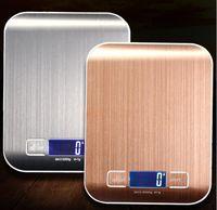40 قطع LCD المطبخ الإلكترونية موازين التوازن أدوات الطبخ قياس الرقمية الفولاذ المقاوم للصدأ 5000 جرام / 1 جرام وزنها مقياس الغذاء الرقمية