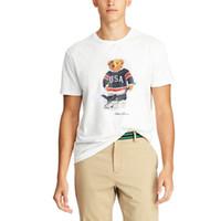 NÓS TAMANHO mens Womens designer t camisas Polo Urso camisa Martini Urso tshirt manga Curta EUA T camisa de algodão Hóquei urso dropshipping