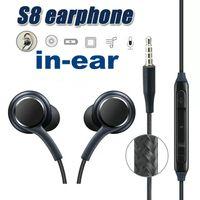 سماعة لسامسونج غالاكسي S8 S8 + زائد سماعة صوت ستيريو سماعة سماعات عالية الجودة مع سماعة سلكية داخل الأذن