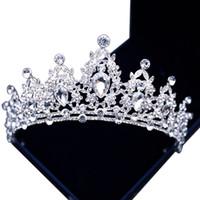 Headpieces Top Venda luxuoso frisada de cristal Rhinestone Adorned nupcial Crown Novo Design da noiva Cabeça Tiaras Acessórios 2021 Top Venda