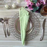 Placas de carregador de metal de cristal com 3 camadas frisada de ouro prateado casamento decoração de mesa atacado