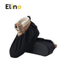 Elino 3 أزواج من الرجال والنساء للماء غير قابل للانزلاق حذاء يغطي قابل للغسل قابلة لإعادة الاستخدام حذاء يغطي إبقاء الطابق تنظيف