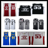 Mamba pas cher Lower Merion # 33 Bryant lycée College Basketball Jersey 44 Hightower Crenshaw Swen Gianna Maria Onore 2 Gigi Shirt Bonne