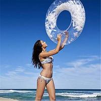 80см Новый дизайн надувной бассейн кольцо с Перья Женщины Swim круг труба Пляж Лето Вода партии надувной бассейн игрушки