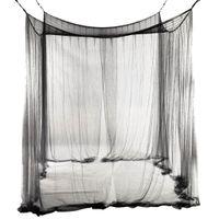 yatak için 4 Köşe Post Oda Canopy Cibinlik Tam Kraliçe Kral Netleştirme Siyah Yatak Ev Dekorasyonu yatak çadır gölgelik