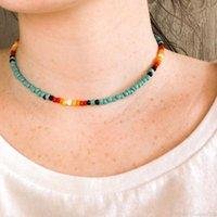 VSCO Girl Boho Beads Choker Collar Fashion Beach Colorido Collares cortos Party Declaración de la fiesta Accesorios de Joyería Regalo