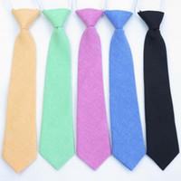 120 pçs / lote nova moda infantil criança de algodão smoking partido geral gravata / algodão gravata para meninos meninas