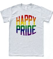 HAPPY PRIDE T- shirt LGBT Gay Parade Celebration Tee Proud Le...