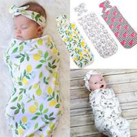 Ins baby rowdle одеяло повязка на голову 2шт 2шт 1ет новорожденный ребенок флористическое пеленое одеяло малый