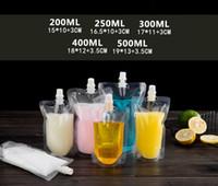 17oz 500ml Boisson en plastique de boisson en plastique Sac à bec pochette pour boissons liquide jus de jus de lait 200-500ml
