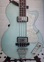 """125. Yıldönümü 1950'lerin Hofner Çağdaş HCT 500/2 Keman Kulübü Bas Açık Yeşil Elektro Gitar, 30 """"Kısa Ölçekli, Beyaz İnci Pickguard"""