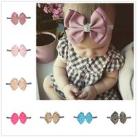 Baby Headbands Bows Kids Ribbon glitter Elastic Headbands Gi...