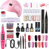 Nail Set for Manicure Kit UV Led Lamp With Electric Drill Ma...