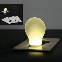 lumières de nuit kid bébé LED carte lumière nouveauté de carte de crédit taille LED lumières cartes de poche Portefeuille lumière mini lampe de nuit arbre de Noël