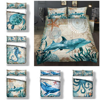 3D Sea Animals Dolphin Whale Octopus Turtle Design Bedding S...