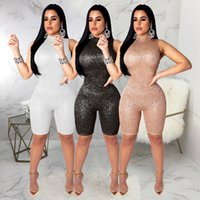 Sparkly Glitter Birthday Sequin Romper Outfits For Women Sta...