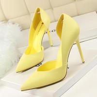 Neue Damen Pumps Fashion High Heels Schuhe Damen Schwarz Rosa Gelb Schuhe Damen Braut Hochzeit Schuhe Größe 35-40