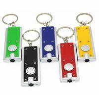 Mini LED linterna de la cadena clave Tetris lámpara creativa plástico anillo de llave universal lámpara de techo de 6 colores T3I5415