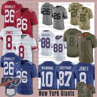 6 Saquon Barkley 8 Daniel Jones Giant Jersey 87 Sterling She...