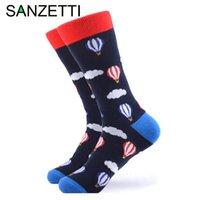 Мужские носки Sanzetti 1PAIR стиль счастливые высокое качество красочные животные комбинированные хлопковые шаблон новизны подарок свадебное платье