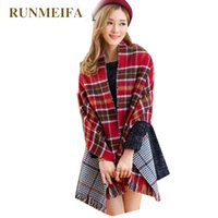 ZA Winter Brand Women' s Cashmere Scarf Plaid Oversized d...