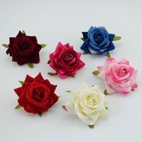 인공 장미 꽃 1 개 / 몫 저렴한 6 센치 메터 웨딩 자동차 장식 웨딩 장미 스크랩북 공예 시뮬레이션 꽃