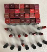 أعلى جودة العلامة التجارية أحمر الشفاه غير اللامع روج A Levres الألومنيوم أنبوب بريق 29 ألوان أحمر الشفاه مع سلسلة رقم المغني الأحمر الروسي