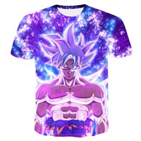 2019 New Dragon Ball Z T Shirts Men Super Saiyan Ultra Insti...