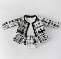 2019 Spring little girls plaid princess outfits toddler kids...