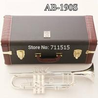 Placcato argento Nuovo arrivo di trasporto di Bach AB-190 Ottone Bb tromba di alta qualità strumenti musicali professionali con gli accessori di caso