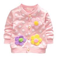 Малыш кардиган куртка молния цветочные печатные пальто для детей Горячая распродажа осень детское пальто девушки хлопка одежда