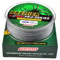 100meters / 1box Linhas de pesca cinza 4 tecidos Linha de PE trançado disponível 6LB-100LB PESCA Acessórios WA_504