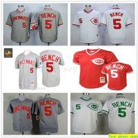 Gray 1969 Johnny Bank Authentic Jersey Herren Frauen Jugend genäht 5 Mitchell und Ness 1990 Umdrehen der Uhr Baseball-Trikots