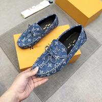 Luxus Herren Hohe Qualität Kleid Schuhe Marke Designer Denim Überschuhe Schuhe BROUTE Schuh Business Leder mit Goldfaden