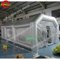 Barraca de pintura inflável gigante ao ar livre para venda, inflável pintura móvel barracas de pintura do carro inflável cabine de pintura frete grátis para a porta