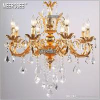 Klassische Kristall-Kronleuchter Candle Lighting Fixture Goldenen oder Silbernen Luster Kristall Hängeleuchte MD8861