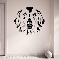 Cute sweet dog wall sticker pet puppy vinyl wall applique mu...
