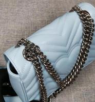5A 높은 품질 여성 패션 실버 체인 스트랩 Marmont에 럭셔리 디자이너 가방 가죽 크로스 바디 핸드백 지갑 가방 어깨 가방