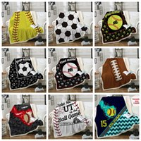 Baseball Blankets 150*130cm Softball Soccer Football Blanket 3D Printed Swaddling Towel Sports Carpet Sofa Bedding Sheet Quilt GGA1851
