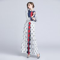 Women party Dresses fashion brand Red and blue plaid Sexy ev...