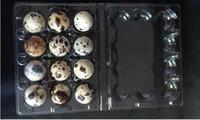 1000 unidades / lote 12 buracos Quail Egg recipientes de plástico caixas de ovos D28mm / H39mm
