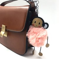Cute Plush Monkey keychain Toys Fashion Handbag Cellphone Ca...