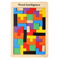 Bebek Ahşap Tetris Bulmacalar Renkli Yapboz Kurulu Oyuncaklar Zeka Oyunu Okul Öncesi Çocuk Fikri Oyuncak Çocuk Hediye