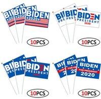 10pcs / set KANN ICH NICHT BREATHE Fahne schwenkte 14 * 21cm BIDEN wehende Flagge USA Election Flagge Hände schütteln Banner Flags 7Styles GGA3431-1