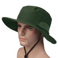 Al aire libre parasol casquillo de la manera del verano del borde ancho del viaje unisex sombreros velocidad seco UV protector solar sombrero causal camping Sombrero de sol TTA846