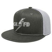 Black Label Society cranio unisex piatto Brim Trucker Cap Arredata personalizzati cappelli di baseball grim reaper Uccelli Ordine del logo Skull White