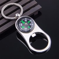 Outdoor Compass Bottle Opener with Metal Key Ring Chain Keyr...
